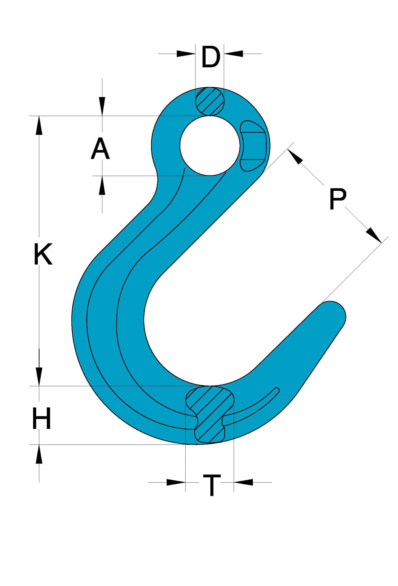 Grade 100 Chain Fittings Eye Foundry Hook_drawing-min